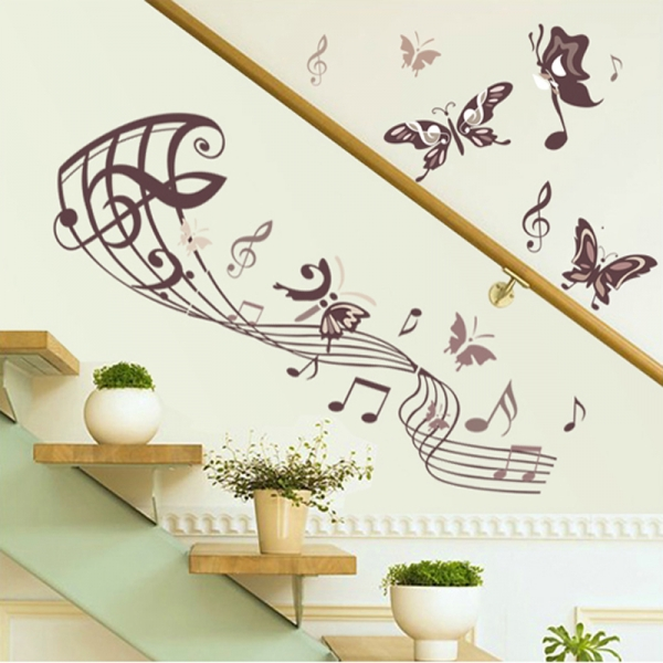 Autocolant decorativ camera de zi - Rapsodia fluturasilor