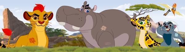 Autocolante Brau cu animale din Lion King - Walt Disney