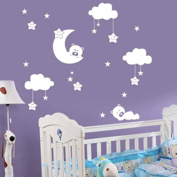 Decor camera bebe - Luna si nori - 135x125 cm