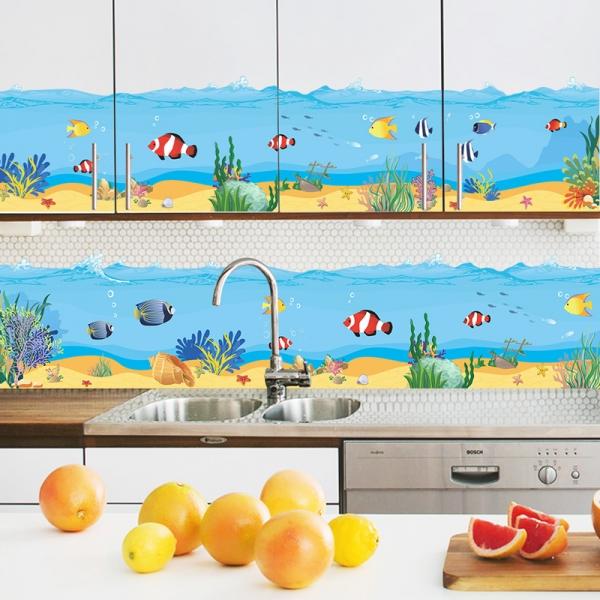 Sticker brauri decorative - Pesti in mare