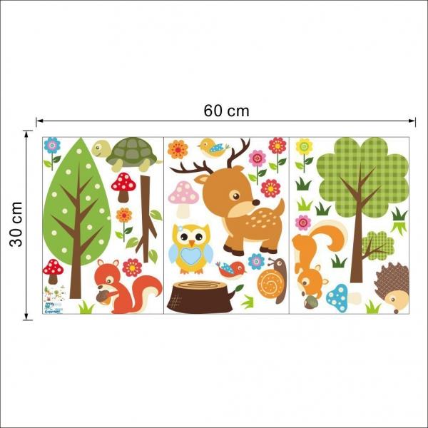 Sticker camera bebe - Animale din padure