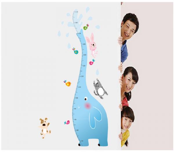 Sticker centimetru - Grafic de crestere - Elefantul stropitor