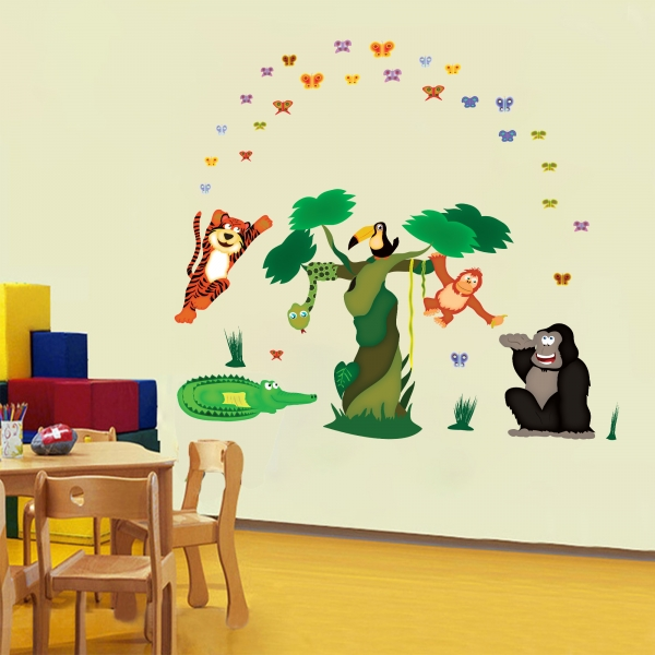 Sticker decorare camere copii - In jungla