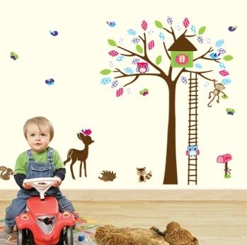 Sticker decorativ copii - Casuta din padure