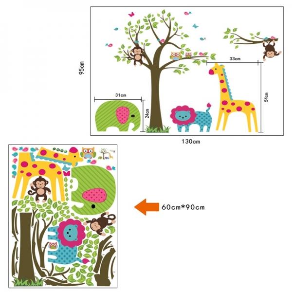 Sticker decorativ copii -  In jungla colorata