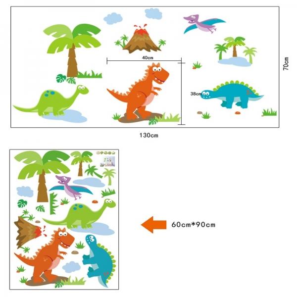 Sticker decorativ copii - Lumea dinozaurilor