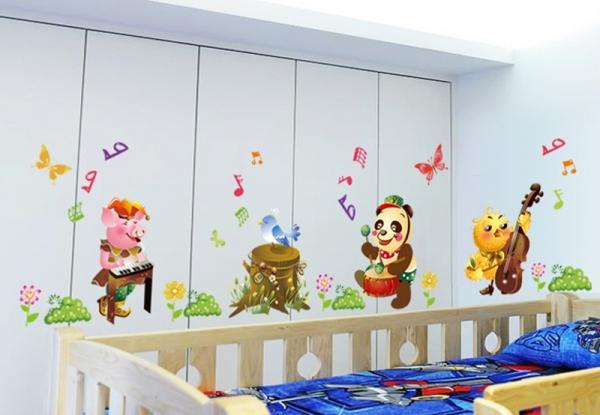 Sticker decorativ copii - Muzicienii veseli