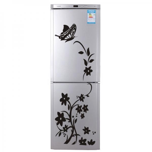 Sticker decorativ frigider - Flori si fluturi