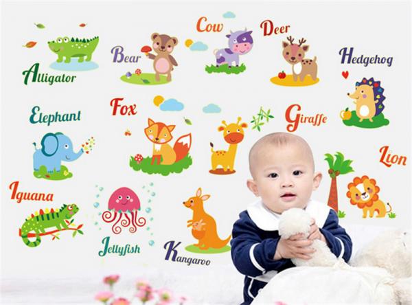 Sticker fosforescent - Animale in limba engleza
