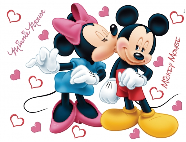 Sticker perete Disney - Minnie si Mickey Mouse