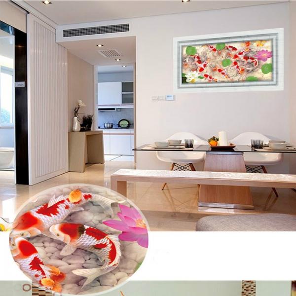 Stickere 3D pentru podea - Pesti si pietre - 60x90 cm