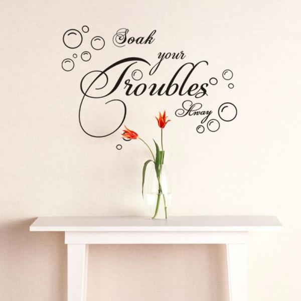 Stickere decorative baie - Soak your troubles away