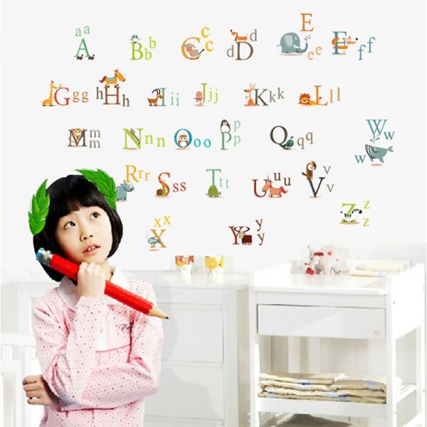 Stickere decorative copii - litere si animale - litere animate