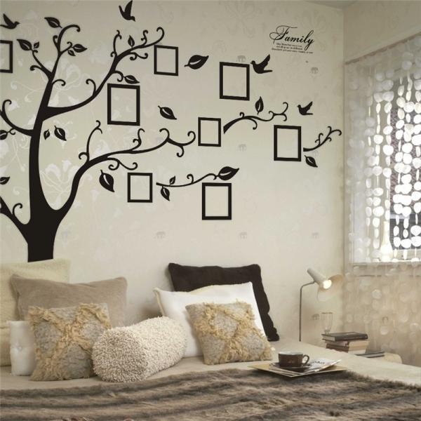 Stickere living - Copac cu rame foto si text