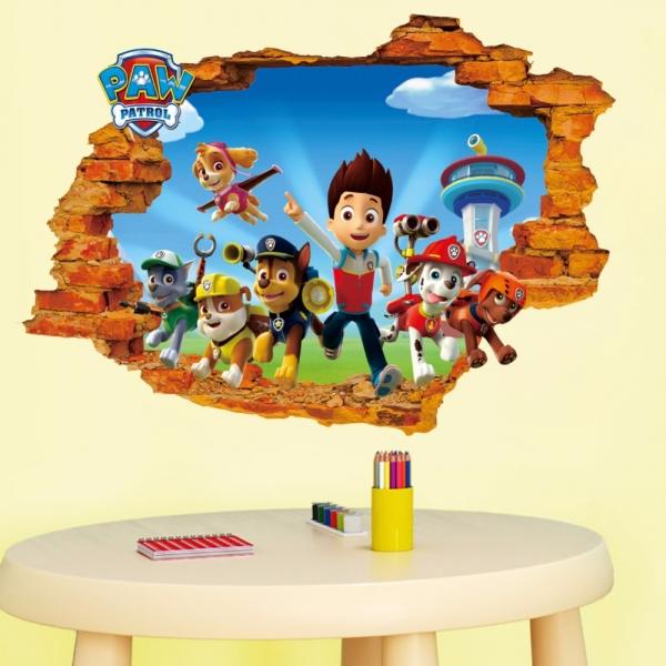 Stickere pentru copii - Patrula catelusilor - 50x70 cm