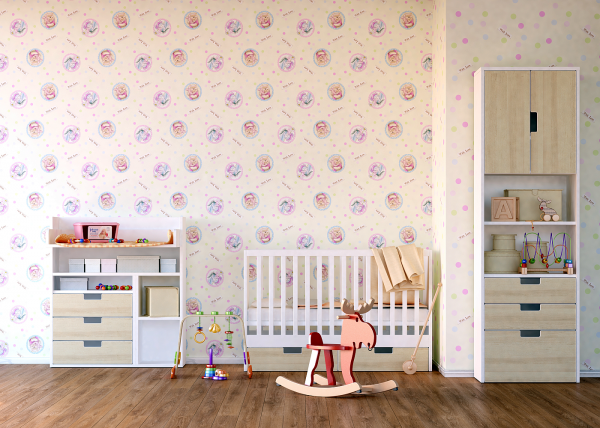 Tapet pentru camera copiilor - netesut crem cu Winnie the Pooh - Walt Disney