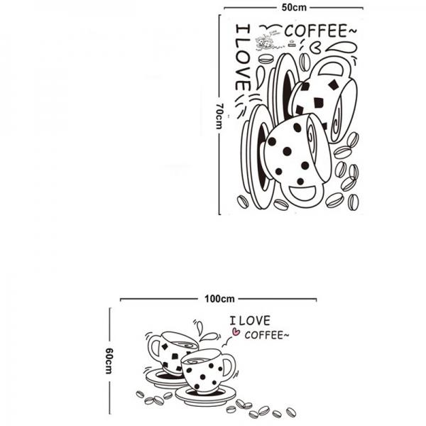 Autocolant bucatarie - Cesti de cafea 3