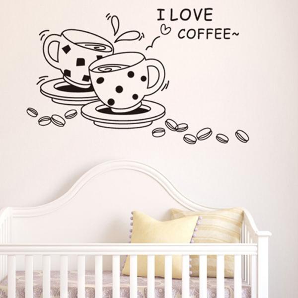 Autocolant bucatarie - Cesti de cafea 2