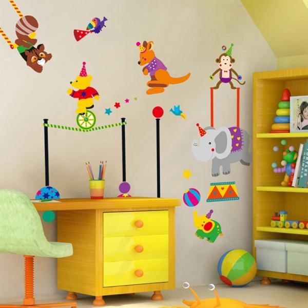Autocolant de perete copii - Animalute la circ