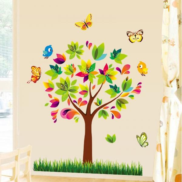 Autocolant de perete pentru copii - Copacelul fermecat 4