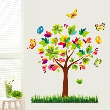 Autocolant de perete pentru copii - Copacelul fermecat 0
