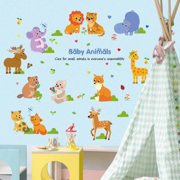 Autocolant decorativ pentru copii - Pui de animale 4