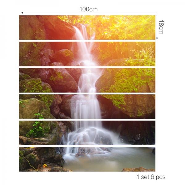 Autocolant scari - Cascada - 6 folii de 18x100 cm