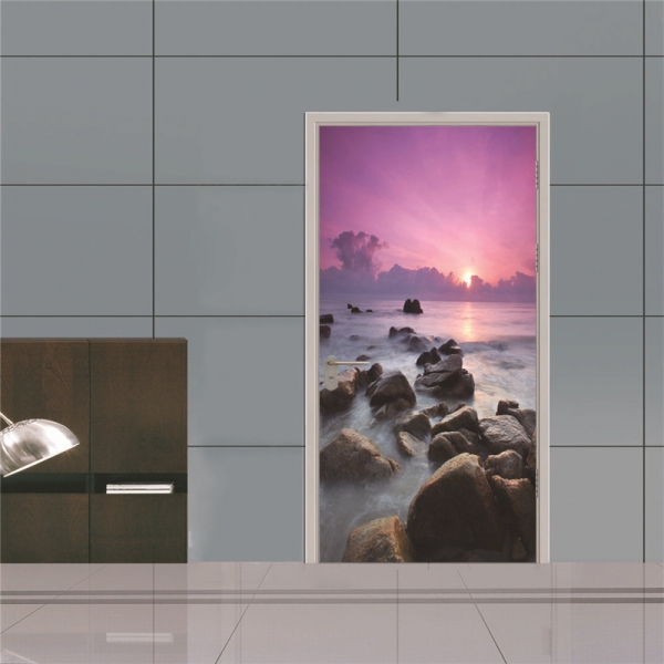 Autocolant usa - Apus violet - 2 folii de 38,5x200 cm 1