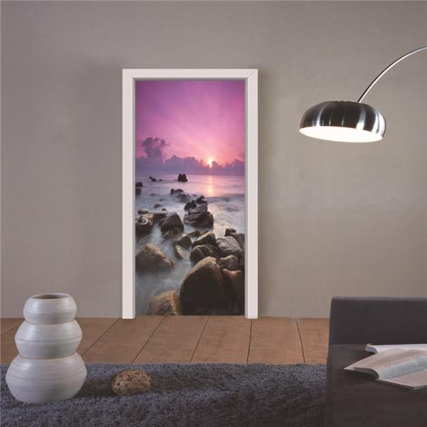 Autocolant usa - Apus violet - 2 folii de 38,5x200 cm