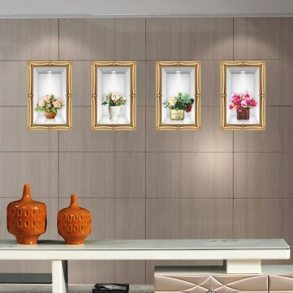 Stickere camera de zi - Aranajamente florale 3D - 122x44 cm 0