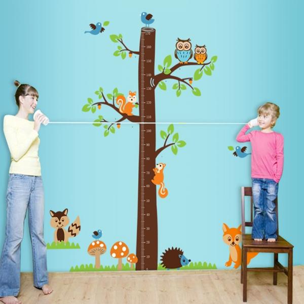 Autocolante camere bebelusi - Masurator de inaltime - Copacul din padure