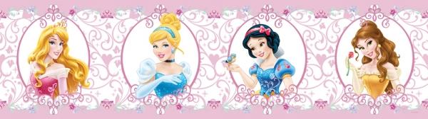 Stickere tip Brau roz cu printese Disney - Walt Disney