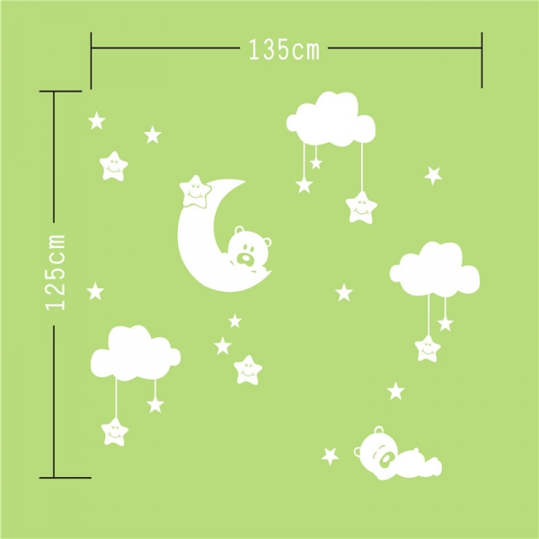 Decor camera bebe - Luna si nori - 135x125 cm