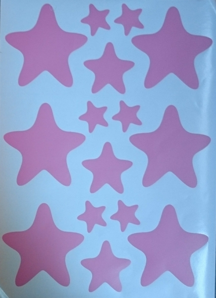 Decoratiuni camera bebe - Stelute  - Roz, Siclam 2