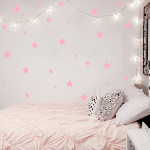 Decoratiuni camera bebe - Stelute  - Roz, Siclam 0
