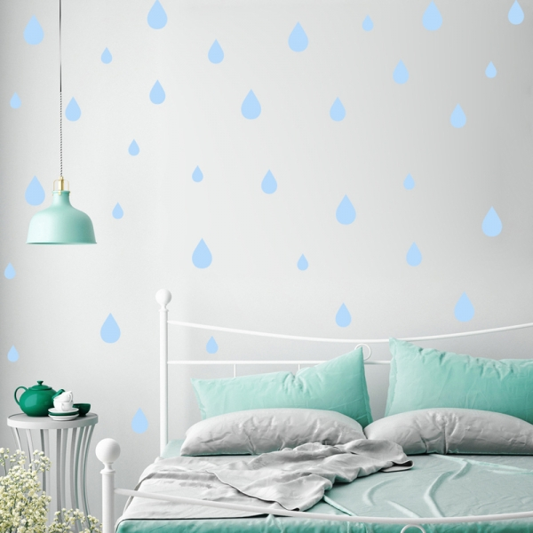 Decoratiuni creative - Picaturi de ploaie - Bleu, Albastru