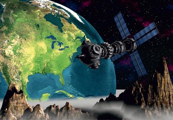 Fototapet Satelit in Spatiu - FTS 0094