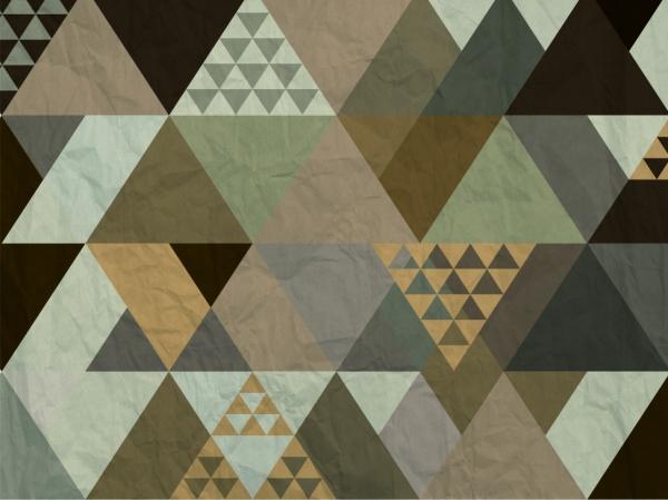 Fototapet Triunghiuri