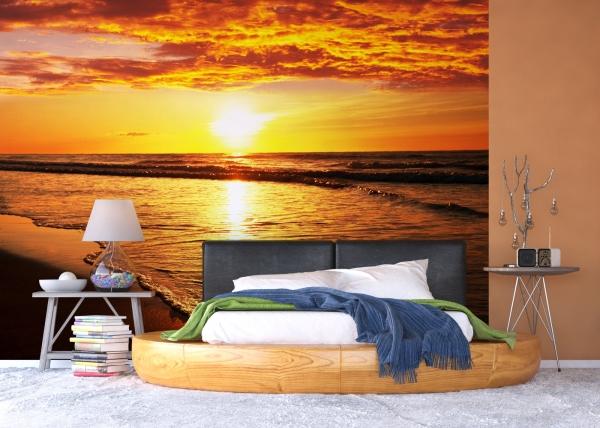 Fototapet Apus de Soare peste Mare