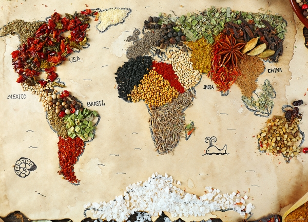 Fototapet Harta Lumii din Condimente