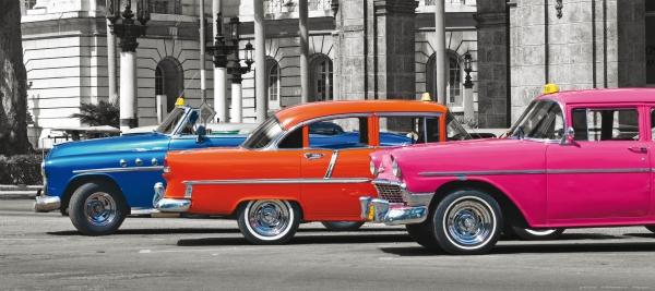 Fototapet Masini Colorate in Cuba