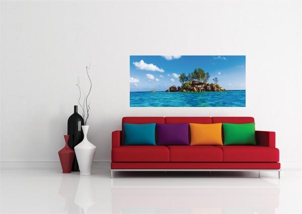 Fototapet Insula cu Stanci si Ape Tropicale 1