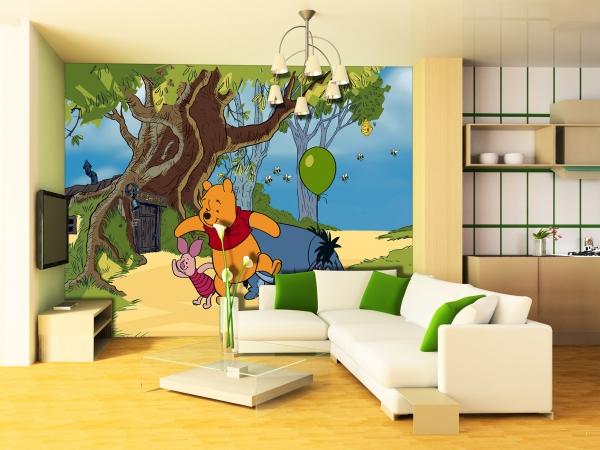 Fototapet Winnie the Pooh, Iepure si Aiurel