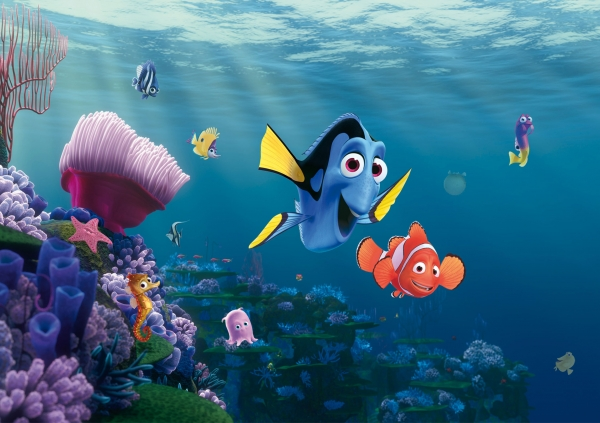 Fototapet Disney - Nemo si Dory in Recif 0