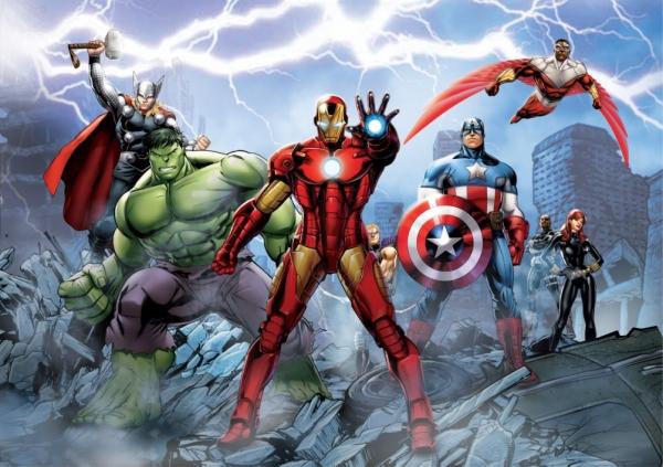 Fototapet Avengers si Super-Eroii