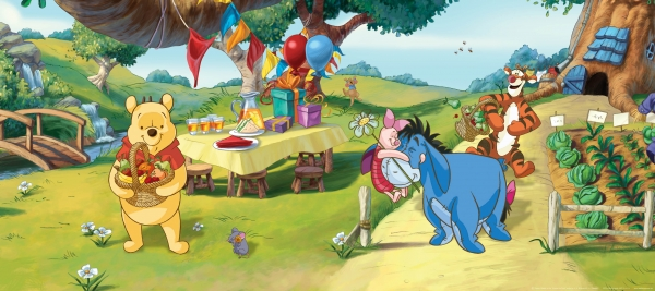 Fototapet Disney - Winnie de Plus la Petrecere