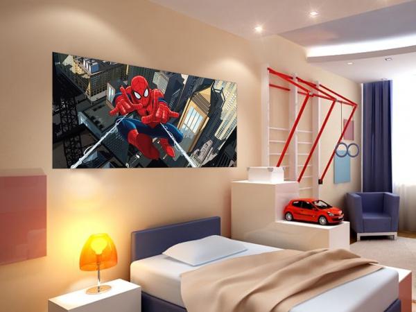 Fototapet Spiderman si Panza de Paianjen