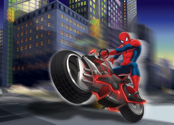 Fototapet Spiderman si Motocicleta 0