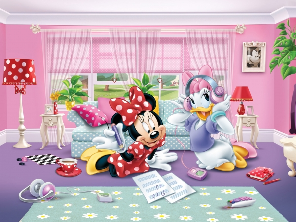 Fototapet Minnie si Daisy se Distreaza