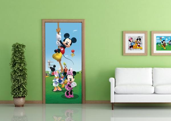 Fototapet Disney - Mickey Mouse Face Sport 1